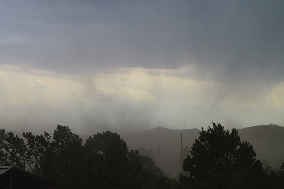 A scary moment when the dry storm front hits, bringing a ground-level cloud through at high speeds.